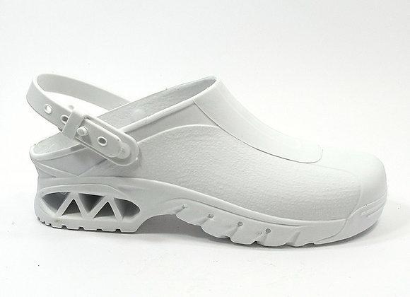 Sabots de bloc couleur blanc