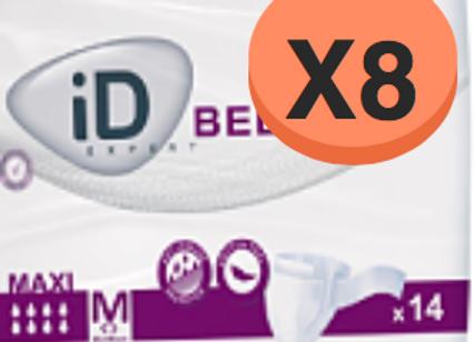 ID Expert Belt Maxi Médium - 8 Paquets de 14 Protections