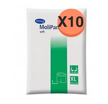 10 Paquets de Hartmann Molicare Fixation Pants Extra Large