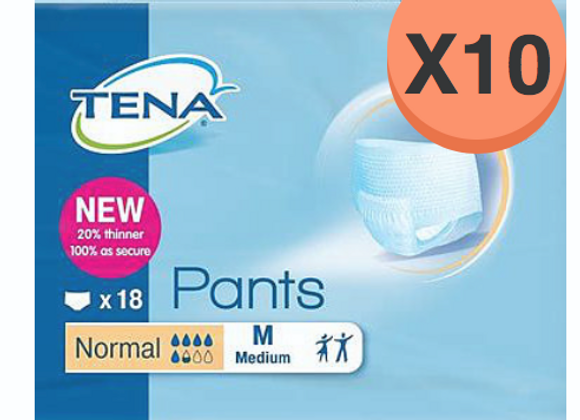Tena pants normal medium - 10 paquets de 18 protections