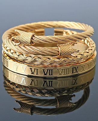 3pc Horseshoe Bracelet Set