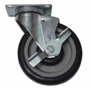Caster, Universal Plate With Brake