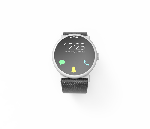 Voco home screen with black band