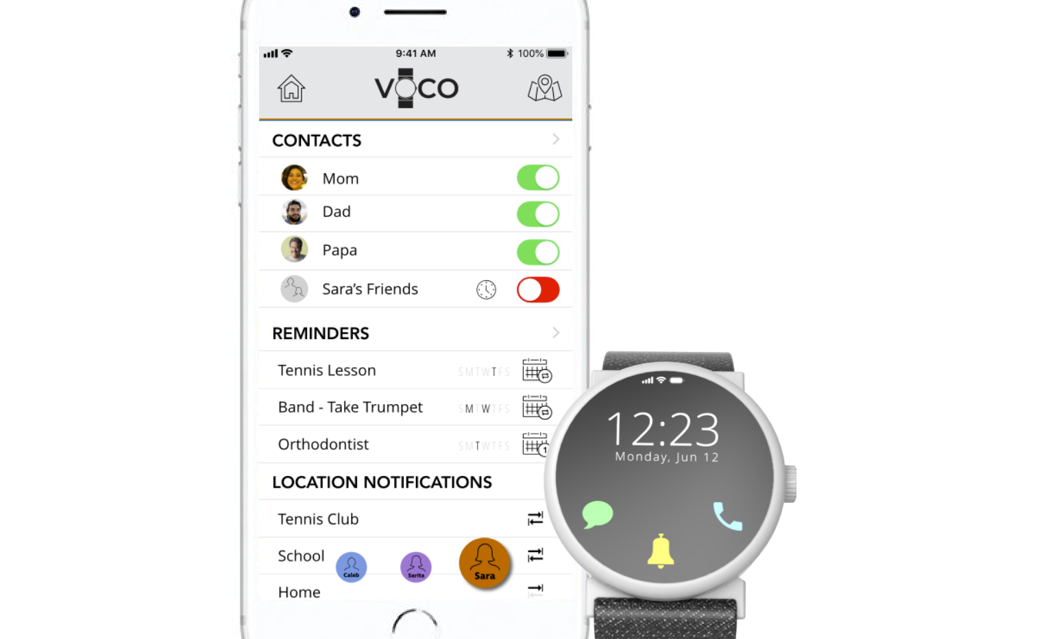 Voco and companion app