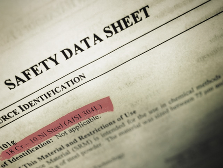 輸歐產品安全資料表(SDS)明年一月一號起改版