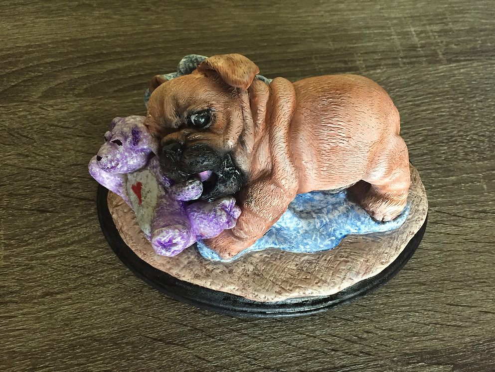 Pug Puppy Clay Sculpture