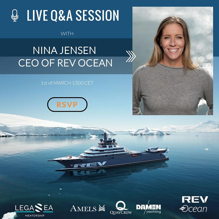 Live Session: Nina Jensen- REV Ocean CEO