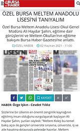 ÖZEL MELTEM ANADOLU LİSESİ