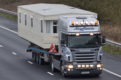 Mayflower Caravan Transport Ltd (RX06 BYJ) Scania R Series M5 Northbound, Sampford Peverell Mon 5-1-