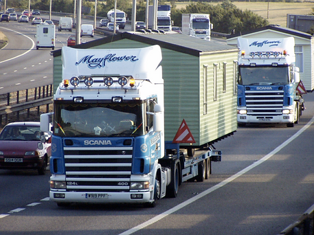 Mayflower transport, caravan transport, mobile home transport, mayflower caravan transport