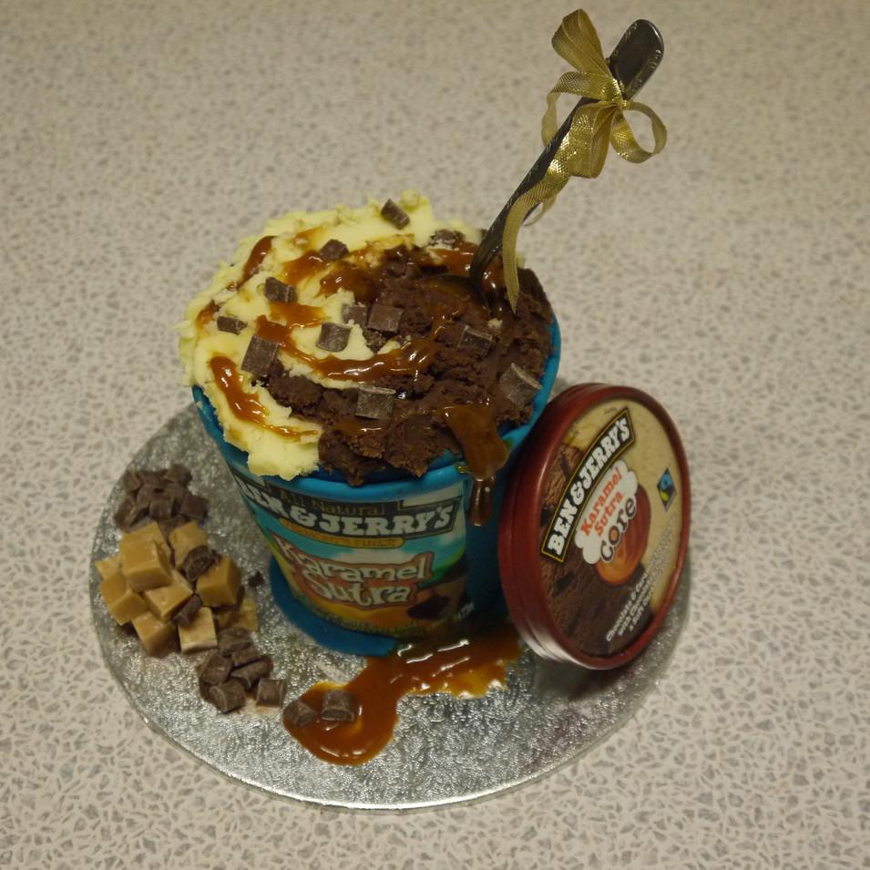 Ben and Jerry icecream cake