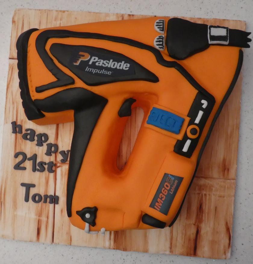 Paslode Nail Gun Cake