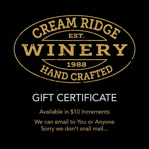 Gift Certificiate- Sent to You or Anyone! VIA EMAIL (NOT MAILED)