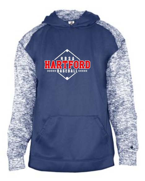Youth Sport Blend Performance Hooded Sweatshirt