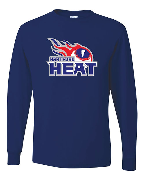 Hartford Heat JERZEES Dri-Power Long Sleeve 50/50 T-Shirt - 29BLR