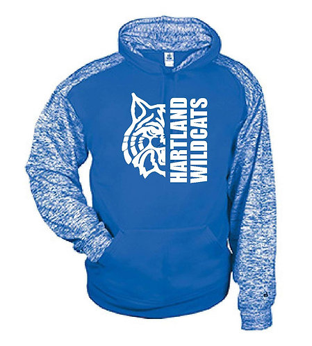 Badger Sport Blend Performance Youth Hooded Sweatshirt - 2462