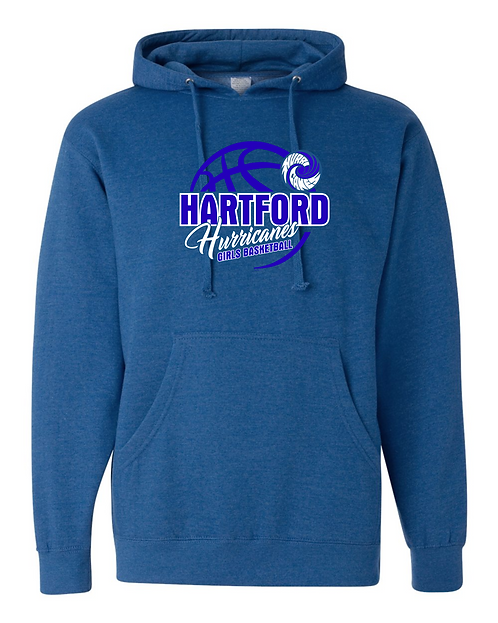 Hartford Girls Basketball Midweight Hooded Sweatshirt