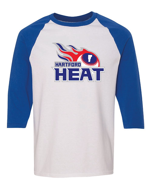 Hartford Heat Gildan Raglan Three-Quarter Sleeve T-Shirt - 5700