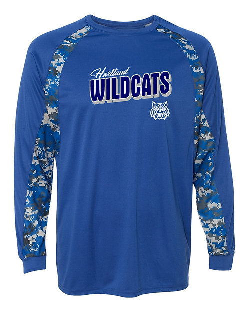 Hartland Wildcats Badger Digital Camo Hook Long Sleeve T-Shirt - 4155