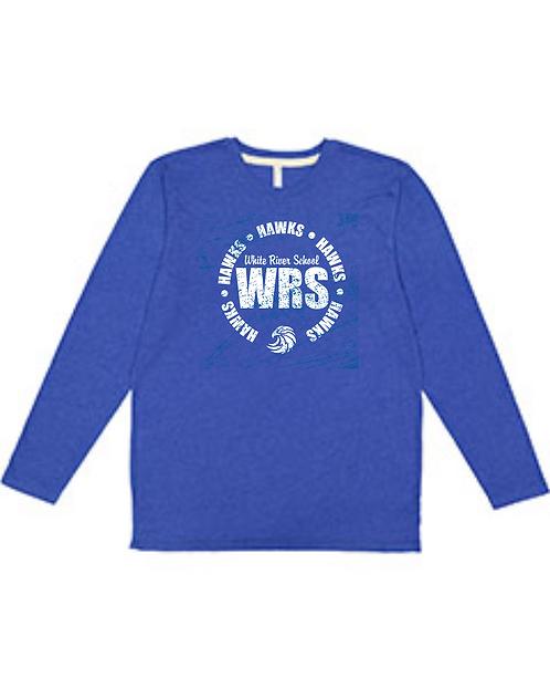 WRS Hawks LAT 100% Combed Ringspun Cotton Long Sleeve Fine Jersey Tee -