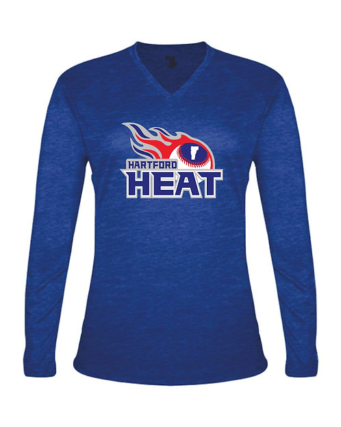 Hartford Heat Badger Women's Tri-Blend Long Sleeve T-Shirt - 4964