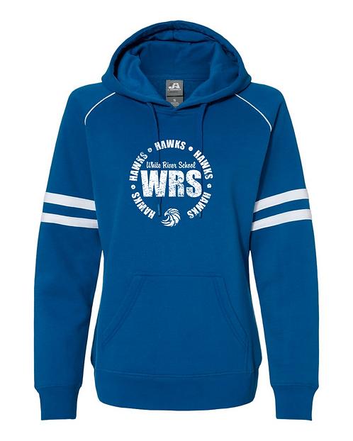 WRS Hawks J. America - Women's Varsity Fleece Piped Hooded Sweatshirt -