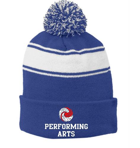 Performing Arts Sport-Tek® Stripe Pom Pom Beanie