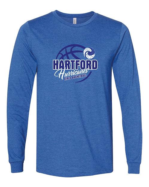Hartford Girls Basketball 100% Combed Ringspun Cotton Long Sleeve Jersey Tee