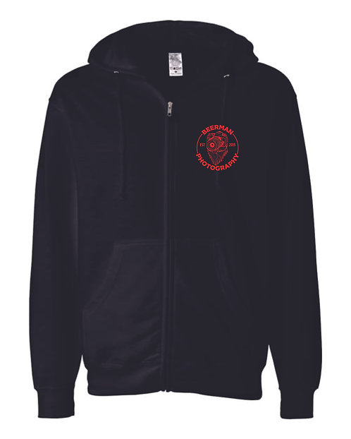 Beerman Photography Independent Trading Co. - Midweight Full-Zip Hoodie