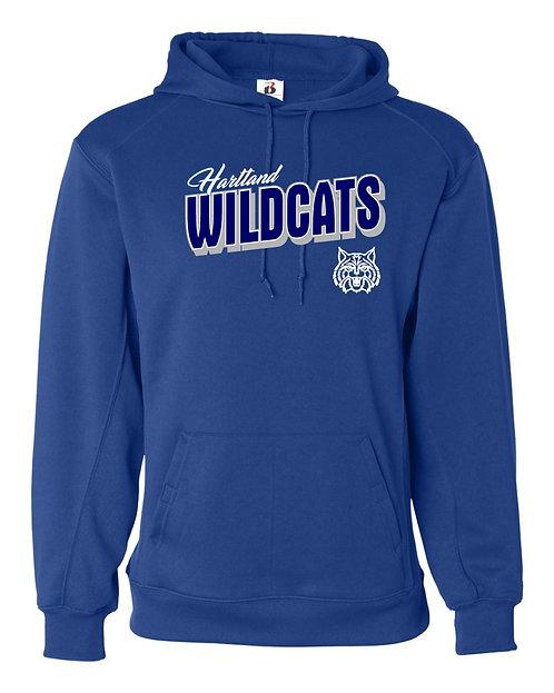 Hartland Wildcats Badger Performance Fleece Hooded Sweatshirt