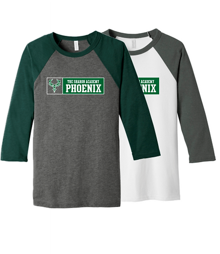DM136 District Perfect Tri 3/4-Sleeve Raglan (2 Color)