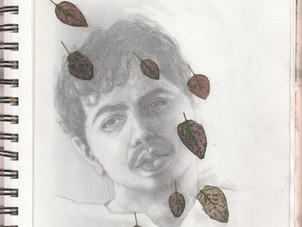 Ali with leaves