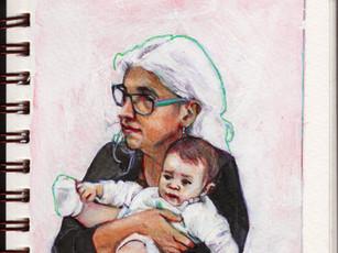 Abuela con bebé