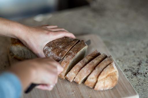 Fresh, local woodfired bread.