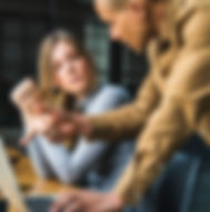 Client receiving legal workman compensation advice