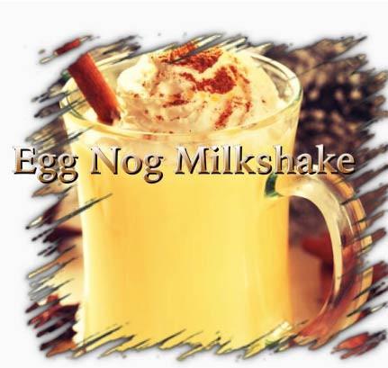 Egg Nog Milkshake