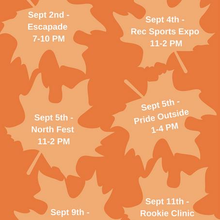 Fall Recruitment Events!