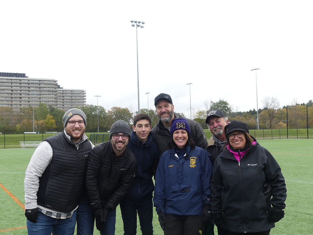 Jamie with her family after the Fall 2018 Family Weekend match against Kent State.