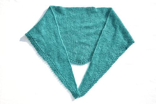 Dreieckstuch Türkis aus Mohair, Seiden und Wolle