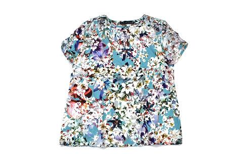 Legeres Shirt aus Swisscoton mit floralem Motiv