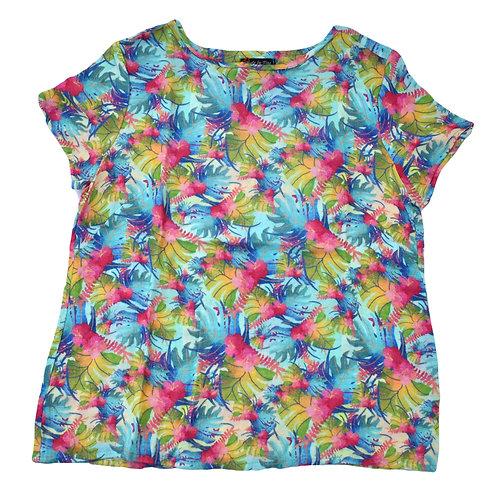 """Shirt aus """"Double Gaze Stoff"""" mit farbiges floralem Motiv"""