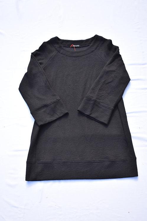Legeres Kleid oder Oberteil mit breiten 3/4 Ärmeln aus Cloque Jersey