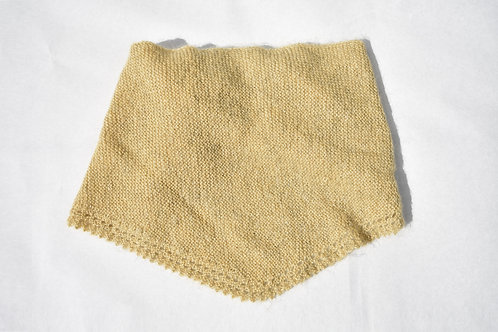 Dreieckstuch Senfgelb aus Mohair, Seiden und Wolle