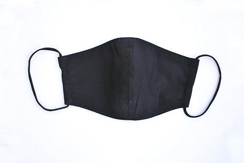 Gesichtsmaske/Hygienestoffmaske 2-lagig ohne Filterfach schwarz