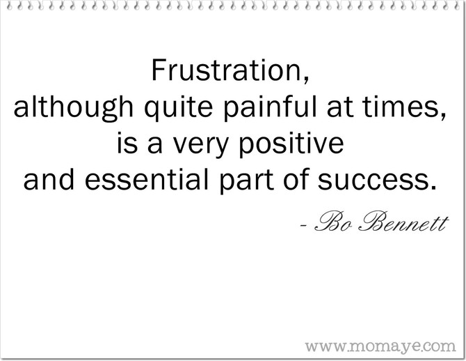 The Positive Effects of Frustration