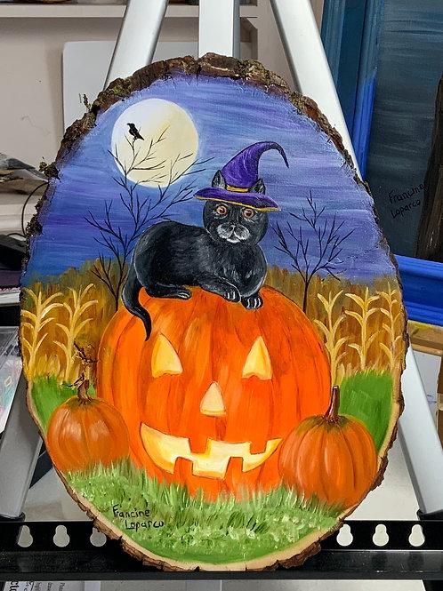Cat with Pumpkin