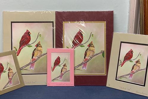 Cardinal Love Prints