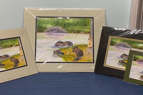 Busy Beavers prints