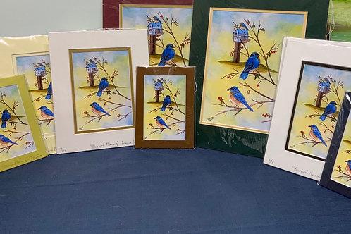 Bluebird Morning Prints