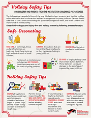 holiday safety tips info-graphics